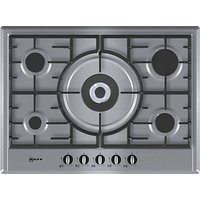 Neff T25S56N0GB Gas Hob, Stainless Steel
