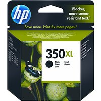 HP 350XL Inkjet Cartridge, Black, CB336EE