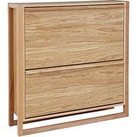 John Lewis Low Shoe Storage Cabinet, Oak