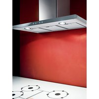 Elica Galaxy LED Chimney Hood, Stainless Steel/White Glass