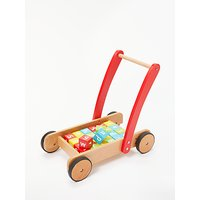 John Lewis Wooden Baby Walker and Bricks