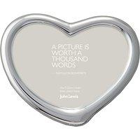 John Lewis Heart Photo Frame, Silver Plated, 4 x 6 (10 x 15cm)
