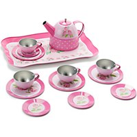 John Lewis Toy Rose Tin Tea Set