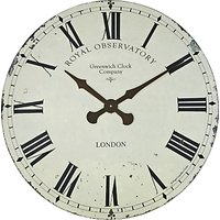 Lascelles Greenwich Wall Clock, Dia.70cm, Cream