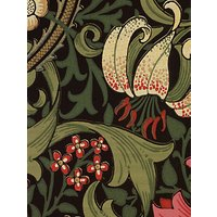 Morris & Co. Golden Lily, Charcoal / Olive, 210403