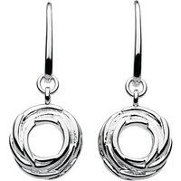 Kit Heath Sterling Silver Nest Drop Earrings, Silver