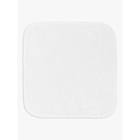 John Lewis Flannels, White Cotton, Pack of 5
