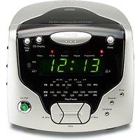 ROBERTS CR9986 CD Clock Radio, Silver