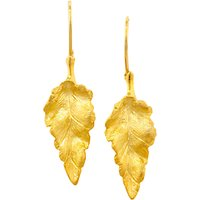 shop for London Road 9ct Yellow Gold Leaf Earrings at Shopo