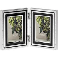 Vera Wang for Wedgwood With Love Double Photo Frame, Noir, 2 x 3 (5 x 8cm)