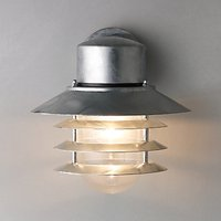 Nordlux Vejers Outdoor Wall Light, Galvanised Steel