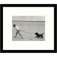 Getty Images Gallery Walking The Dog Framed Print, 57 x 68cm