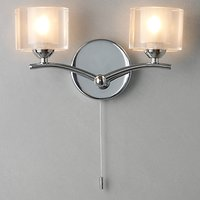 John Lewis Zola Wall Light, 2 Lights