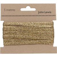 John Lewis Metallic Braid, 5m, Gold