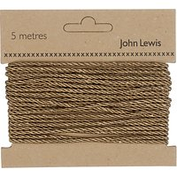 John Lewis 3mm Twisted Cord, 5m