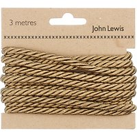 John Lewis & Partners Twisted Cord, 3m