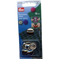Prym Metal Cover Buttons, 19mm, Pack of 5