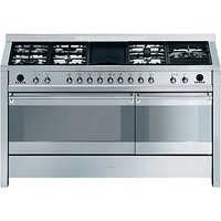 Smeg A5-8 Dual Fuel Range Cooker, Stainless Steel