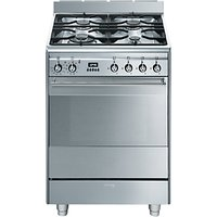 Smeg SUK61PX8 Dual Fuel Cooker, Stainless Steel
