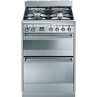 Smeg SUK62MX8 Dual Fuel Cooker, Stainless Steel