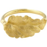 shop for London Road 9ct Yellow Gold Leaf Ring, Gold at Shopo