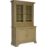 Neptune Henley 4ft Glazed Rack Dresser, Oak