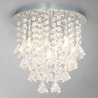 John Lewis Katelyn Semi Flush Ceiling Light, Crystal
