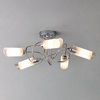 John Lewis Limbo Semi Flush Ceiling Light, 5 Light