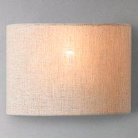 John Lewis Samantha Uplighter Linen Wall Light