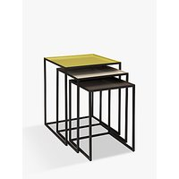 Content by Terence Conran Accents, Nest of 3 Tables, Putty/Chartreuse/Steel