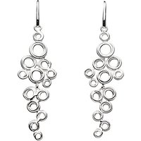 Kit Heath Coil Cluster Drop Earrings, Silver