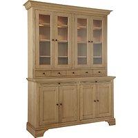 Neptune Henley 5ft Glazed Rack Oak Dresser, Oak