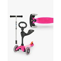 Mini Micro 3-in-1 Scooter with Seat and O-Bar Handle, 1-5 years, Pink