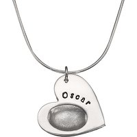 shop for Under the Rose Personalised Fingerprint Heart Pendant Necklace at Shopo