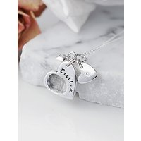 shop for Under the Rose Personalised Fingerprint Charm Necklace at Shopo