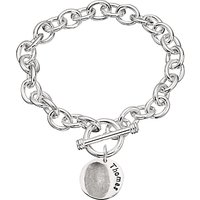 Under the Rose Personalised Women's Fingerprint Charm Bracelet, 1 Charm