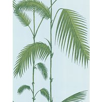 Cole & Son Palm Leaves Wallpaper, Blue / Green, 66/2010
