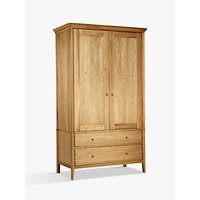 John Lewis Essence 2-door Wardrobe, Oak