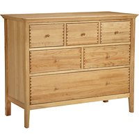 shop for John Lewis & Partners Essence 6 Drawer Chest of Drawers, Oak at Shopo