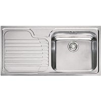 Franke Galassia GAX 611 Inset Kitchen Sink with Right Hand Bowl, Stainless Steel