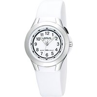 Lorus R2309FX9 Children's Sports Rubber Strap Watch, White