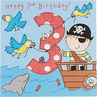 Twizler Pirate Birthday Card, Age 3
