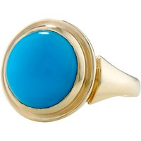 London Road Sloane 9ct Yellow Gold Turquoise Cocktail Ring, Gold/Blue