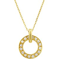 shop for London Road Yellow Gold Circular Diamond Set Pendant Necklace at Shopo