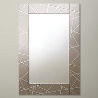 shop for John Lewis & Partners Engraved Mirror, 90 x 60cm, Smoke at Shopo