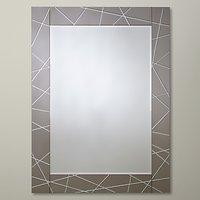 John Lewis Smoke Engraved Mirror, 102 x 76cm