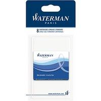 Waterman Standard Ink Cartridges, Blue, Pack of 8