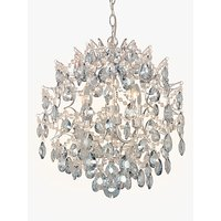 John Lewis and Partners Baroque Crystal Chandelier Ceiling Light, Clear/Blue