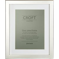 John Lewis Croft Collection Silver Plated Box Photo Frame, 6 x 8 (15 x 20cm)