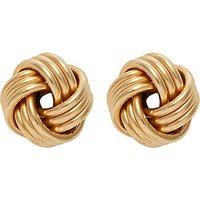 Nina B 9ct Yellow Gold Knot Earrings, Gold